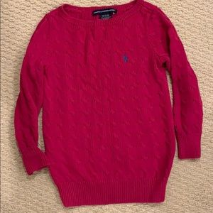 Cable Knit Boatneck Sweater Ralph Lauren Sport S